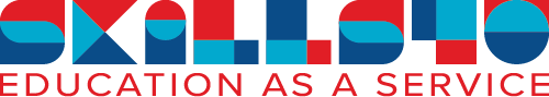 Rood blauw logo